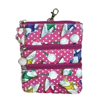 Sydney Love Sport Nu Shooz Golf Clip On Zip Pouch