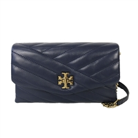 Tory Burch Kira Chevron Quilted Leather Chain Wallet Crossbody