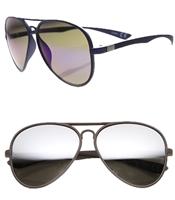 20e6f21005 Women s 60MM Mirrored Aviator Sunglasses