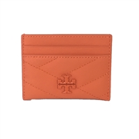 Tory Burch Kira Chevron Matte Leather ID Card Case
