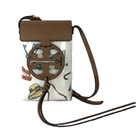 Tory Burch Miller Clear Bon Voyage Print Phone Crossbody