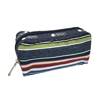 LeSportsac Rectangular Cosmetic Case Indigo Stripe
