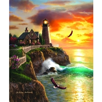 SunsOut Eagle Ridge Lighthouse 1000 Pc Jigsaw Puzzle