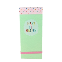 Make It Happen Rainbow Heart Checklist Taskpad Notepad