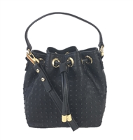 7229efd585b9 MILLY Perry Dot Mini Drawstring Studded Bucket Crossbody