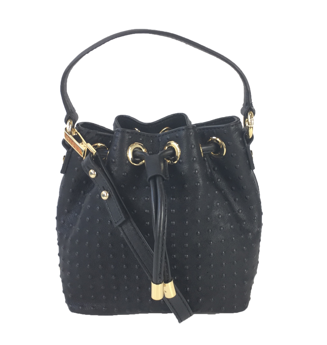 9a7533ce0584 MILLY Perry Dot Mini Drawstring Studded Bucket Crossbody