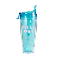 TOOT Chill Out BPA Free Duel Wall Acrylic Tumbler 16 oz