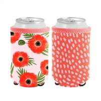 TOOT Poppies Reversible Can Cooler Sleeve