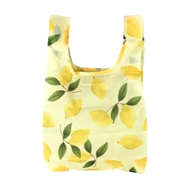 TOOT Squeeze The Day Lemon Print Reusable Packable Small Tote Bag