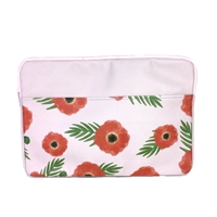 "TOOT Poppies Floral Vegan Leather Macbook Pro 13"" Laptop Sleeve"