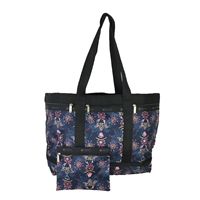 LeSportsac Large Travel Tote Weekender Evening Blues