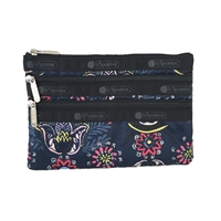 LeSportsac 3 Zip Cosmetic Case Evening Blues