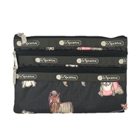 LeSportsac 3 Zip Cosmetic Case Take A Bow Wow