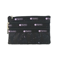 LeSportsac 3 Zip Cosmetic Case Celestial