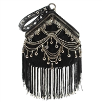 Mary Frances Swag Beaded Fringe Pouchette Wristlet