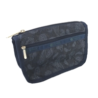 LeSportsac Travel Cosmetic Case Denim Paisley