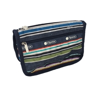 LeSportsac Travel Cosmetic Case Indigo Stripe