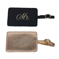 Mr. and Mrs. Set of 2 Luggage Tags Gift Set