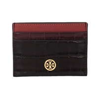 Tory Burch Robinson Croco Embossed ID Card Case