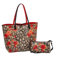 Sydney Love Safari Rose Reversible Tote & Wristlet