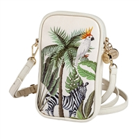 Sydney Love Jungle Print Vegan Leather Phone Crossbody Bag