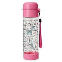 Paris Sweets BPA Free Travel Latch Water Bottle