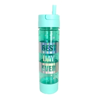 Best Day Ever BPA Free Travel Water Bottle w Storage Holder