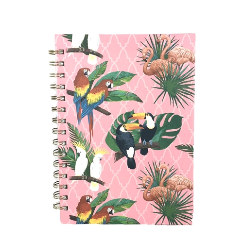Birds of a Feather Tropical Birds Spiral Notebook
