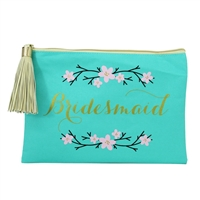 Bridesmaid Zip Top Clutch Cosmetic Case