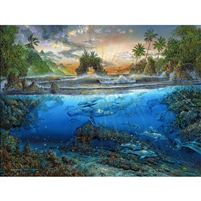 SunsOut Secret Cove Dolphins 500 PC Jigsaw Puzzle