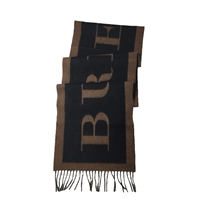 Burberry Branded Logo Text Cashmere Scarf