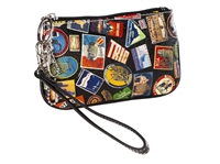Sydney Love World Travel Print Wristlet
