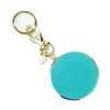 Mary Square Turn It Up Teal Enamel Key Chain