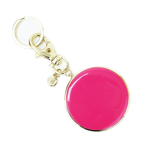 Mary Square Pretty In Pink Enamel Key Chain