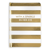 With A Sparkle In Her Eye Bound Journal