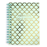 Mermaids Do It Better Hardcover Spiral Notebook