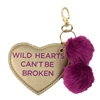 Under One Sky Wild Hearts Pom Pom Key Chain Purse Charm
