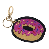 Sprinkle Donut Key Chain Purse Charm