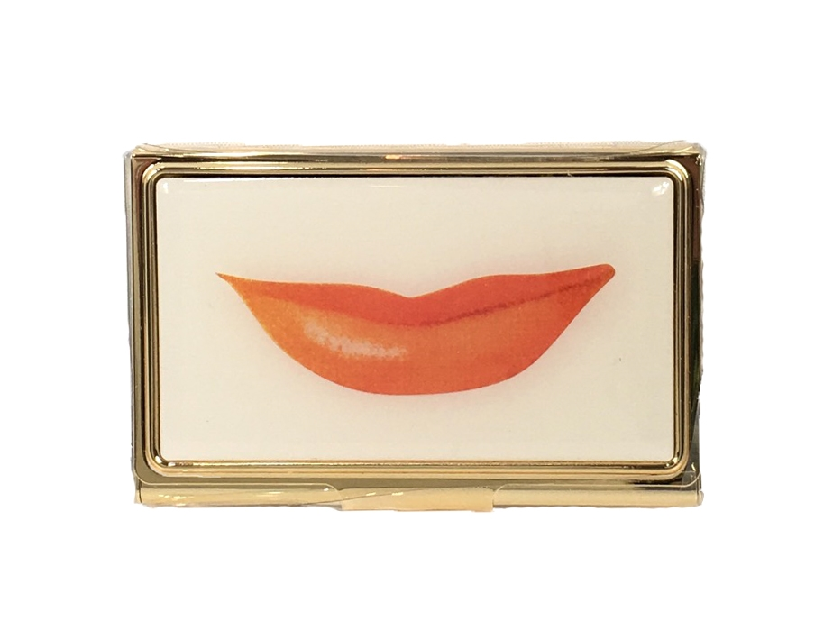 Kate spade snap happy lips business card holder colourmoves