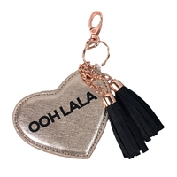 'Ooh La La' Heart Key Chain Purse Charm