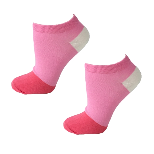 Kate Spade Pink Color Block No Show Ped Socks