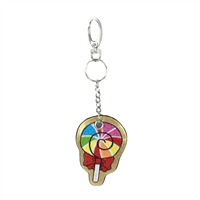 Rainbow Lollipop Key Chain Purse Charm