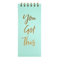 You Got This Gold Script Top Spiral Hardcover Notepad