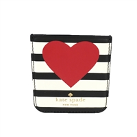 Kate Spade Heart Stripe Sticker Phone Pocket
