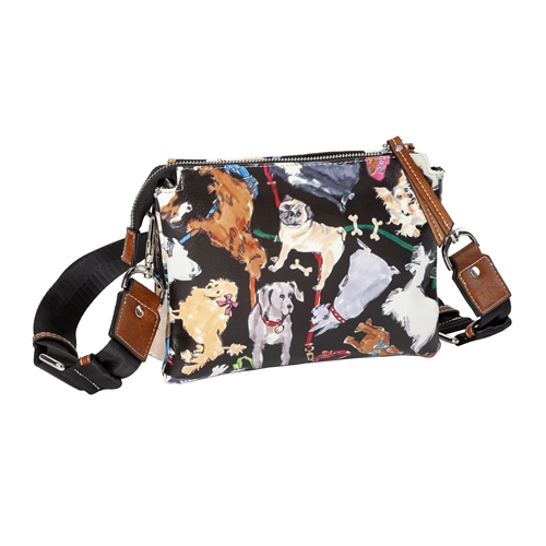 Sydney Love Dog Print Vegan Leather Crossbody