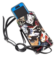 Sydney Love Dog Print Phone Crossbody Bag