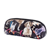 Dog Print Mini Zip Cosmetic Case