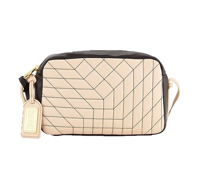 Badgley Mischka Clarissa Nappa Bi-Color Crossbody