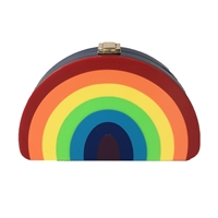 MILLY Rainbow Half Moon Convertible Clutch