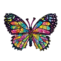 Stained Glass Butterfly 1000 Pc Tree Shaped Jigsaw Puzzle